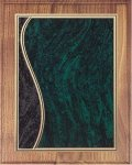 Walnut Plaque - Green Swirl Recognition Plaques