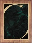 Walnut Plaque - Green Star Sweep Recognition Plaques