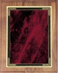 Walnut Plaque - Red Marble Mist Recognition Plaques