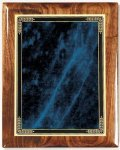 Walnut Gloss Plaque - Blue Marble Mist Recognition Plaques