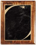 Walnut Gloss Plaque - Grey Star Sweep Recognition Plaques