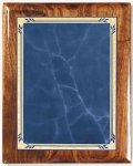 Walnut Gloss Plaque - Blue Heritage Recognition Plaques