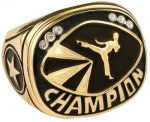 Martial Arts Champion Ring Rings