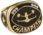 Cheerleading Champion Ring Rings