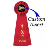Custom Insert Rosette Ribbon 2nd Rosette Ribbons