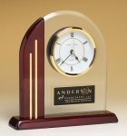 Arched Clock with Rosewood Piano Finish Post and Base Rosewood clocks