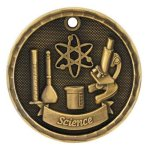 3D Science Medal Science Medals