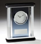 Smoked Glass Mantle Clock Secretary Gift Awards