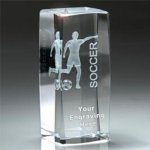 Sport Crystal Soccer, Female  Award Soccer Trophies