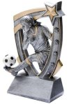 3D Star Soccer Award (Female) Soccer Trophies