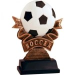 Ribbon Soccer Resin Soccer Trophies