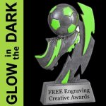 GLOW in the DARK Soccer Trophy Soccer Trophies