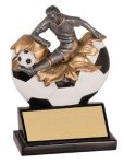 Male Soccer Xploding Resin Soccer Trophy Awards
