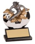 Female Soccer Xploding Resin Soccer Trophy Awards