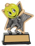 Softball Little Pals Resin Trophy Softball Trophies