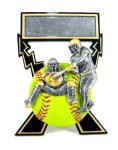 Lightning Bolts Softball Award Softball Trophies
