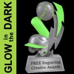 GLOW in the DARK Softball Trophy 2 Softball Trophies