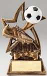 Star Series Sculpted Antique Gold Soocer Resin Trophy  Softball Trophies