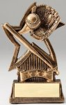 Star Series Sculpted Antique Gold Baseball Resin Trophy  Softball Trophies