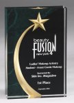 Shooting Star Acrylic Award - Green Star Acrylic Awards