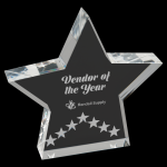 Silver Star Performance Acrylic Star Acrylic Awards