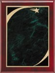 Rosewood Green Star Sweep Plaque Star Plaques