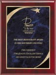 Rosewood Blue Star Sweep Plaque Star Plaques