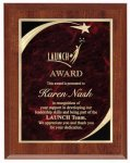 Cherry Red Star Sweep Economy Plaque Star Plaques