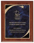 Cherry Blue Star Sweep Economy Plaque Star Plaques