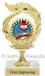 Flame Swimming Award Swimming Trophies