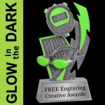 GLOW in the DARK Swimming Trophy Swimming Trophies