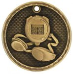 3D Swimming Medal Swimming Trophies