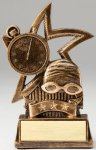 Star Series Sculpted Antique Gold Swim Resin Trophy Swimming Trophies