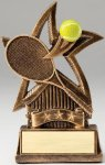 Star Series Sculpted Antique Gold Tennis Resin Trophy  Tennis Trophies