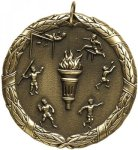 Wreath Track and Field Medal Track Trophies