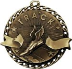 Burst Thru Track and Field Medal Track Trophies