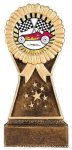 Bronze and Gold Resin Rosette 2 Disc Holder Victory Trophies