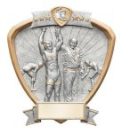 Signature Series Wrestling Shield Award Victory Trophy Awards