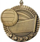 5 Star Volleyball Medl Medal Volleyball Medals