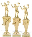First-Third Place Volleyball Award Volleyball Trophies