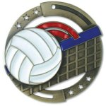 Color Volleyball Medal Volleyball Trophies