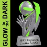 GLOW in the DARK Volleyball Trophy Volleyball Trophy Awards