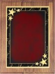 Walnut Plaque - Red Star Achievement Walnut Plaques