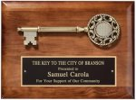Key to the City Plaque Walnut Plaques