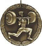 Wreath Weight Lifting Medal Weight Lifting Medals