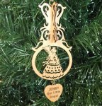 Angel Christmas Ornament 4 Wood Christmas Ornaments 3D