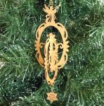 Angel Christmas Ornament 5 Wood Christmas Ornaments 3D