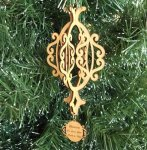 3D Christmas Ornament Wood Christmas Ornaments 3D