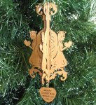 Angel Christmas Ornament 6 Wood Christmas Ornaments 3D