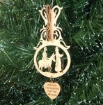 Mary and Joseph Ornament Wood Christmas Ornaments 3D